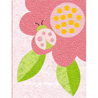 Ladybug Hugs - January block
