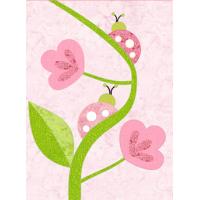 Ladybug Hugs - March block