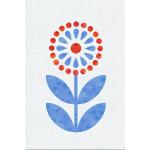 Scandinavian Flowers - Block 9