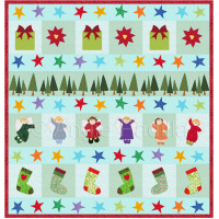 Christmas Row by Row Lap Quilt