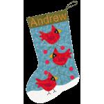 Three Cardinals Stocking