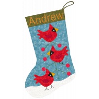 Three Cardinals Stocking