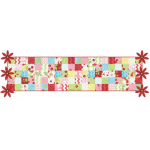 3D Poinsettia Table Runner