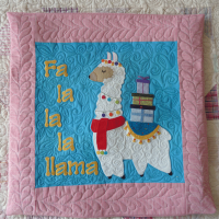 Fa La La La Llama Cushion Cover