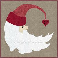 Half Moon Santa Cushion Cover
