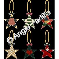 Six PP Star Ornaments