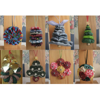 8 Yo-Yo Ornaments