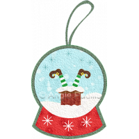 Upside Down Elf Snow Globe Ornament