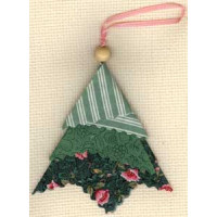 Fabric Folded Tree Ornament