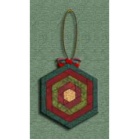 Log Cabin Hexie Ornament