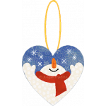 Snowman Heart Ornament