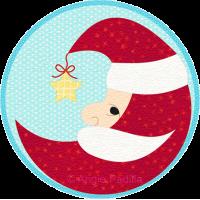 Crescent Moon Santa Candle Mat