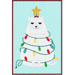 Grumpy Christmas Cat Mug Rug