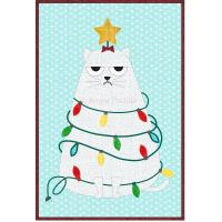 Grumpy Christmas Cat Mug Rug