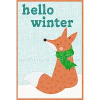 Hello Winter Mug Rug