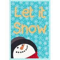 Let it Snow Mug Rug