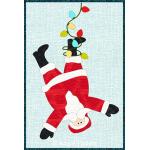 Tangled Santa Mug Rug