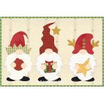 Christmas Gnomes Mug Rug