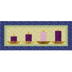 Advent Candles Table Runner
