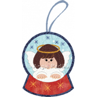 Angel Snow Globe Ornament