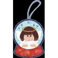 Angel Snowglobe Ornament