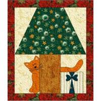 Peeping Christmas Cat