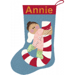 Candy Cane Angel Stocking