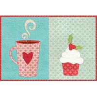 Christmas Coffee Break Mug Rug
