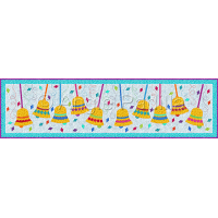 Confetti Bells Table Runner