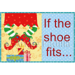 If the Elf Shoe Fits Mug Rug