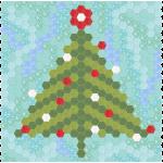Charming Hexie Christmas Tree