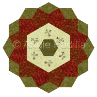 Festive Flower Candle Mat
