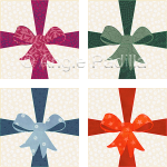 Gift Bow Coasters