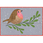 Happy Christmas Robin Mug Rug