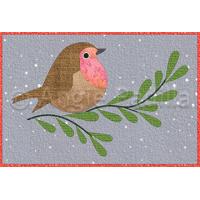 Happy Christmas Robin Mug Rug