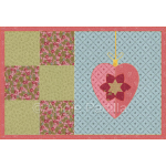 Heart Ornament Mug Rug
