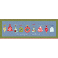 Jolly Ornaments Table Runner