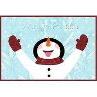 Joyful Frosty Mug Rug