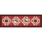 Poinsettias & Holly Table Runner