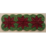 Folded Christmas Poinsettia Table Runner