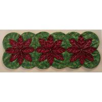 Folded Christmas Poinsettia Table Runner
