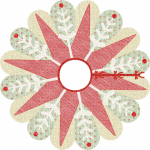 Poinsettia & Snowflake Tree Skirt