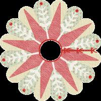 Poinsettia & Snowflake Tree Skirt
