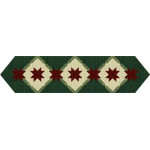 Poinsettia Star Table Runner
