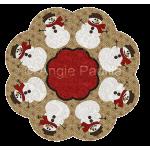 Snowman Candle Mat