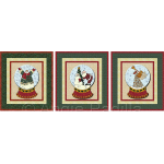 Snowman, Santa, & Angel Snow Globes