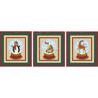 Penguin, Hedgehog, & Reindeer Snow Globes