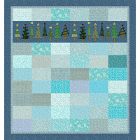 Tree Row Lap Quilt