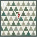 Tree Pickin' Santa Lap Quilt