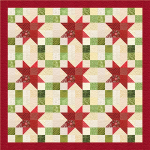 Variable Christmas Stars Lap Quilt